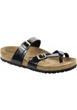 Birkenstock Womans Mayari Snake ( Black ) Cross Strap