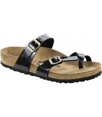 Birkenstock Womans Mayari Snake Black Cross Strap