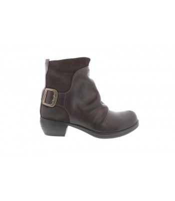 Fly London Mel Rug/Osued Boots (Dark Brown)