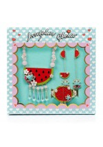 Irregular Choice Rather Have A Melon Jewellery Set (Red, Gold Multi)