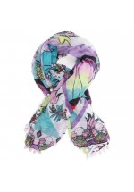 Irregular Choice Pom Pom Parade Scarf - Mermaid &Seahorse Print Limited Edition (Multi)