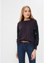 French Connection Afreda Contrast Floral Embroidered Knit