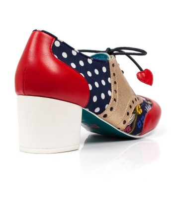 Poetic Licence for Irregular Choice Clara Bow (Navy/Red Multi)