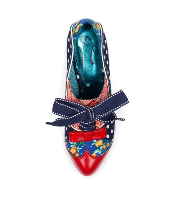 Poetic Licence for Irregular Choice Force of Beauty (Navy/Red/White)