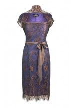 Nancy Mac Olivia Dress in Bronze and Sugar Violet Lace