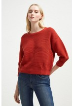 French Connection Ottoman Mozart Pleat Jumper (Firewood)