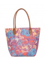 Powder Paisley Print Beach Bag (Multi)