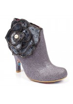 Irregular Choice Pearl Necture Ankle Boot (Silver)