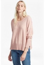 French Connection Della Vhari Long Sleeved Crew Neck Jumper (Pink)