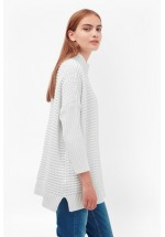 French Connection Mozart Popcorn High Neck Jumper Winter White