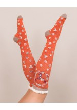 Powder Stag Knee High Socks (tangerine)