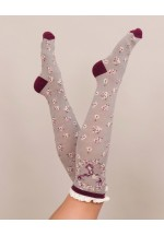 Powder Stag Knee High Socks (slate)