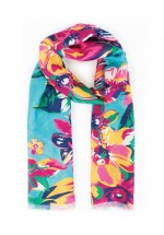 Powder Summer Floral Print Scarf