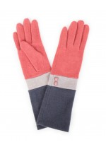Powder Vivienne Wool Gloves (coral/slate/charcoal)