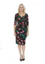Pretty Dress Company Provence Rose Hourglass 3/4 Sleeve Pencil Dress