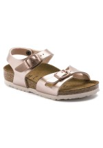 Birkenstock Rio Kids Sandal Birko-Flor Narrow Fit ( Electric Metallic Copper )