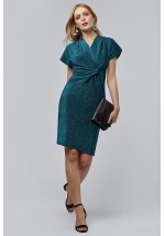 LOUCHE SHAELA TURQUOISE DRESS