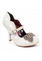 Irregular Choice Shimmer Christmas Shoes (Ivory)