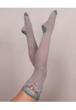 Powder  Slate Stag Long Socks