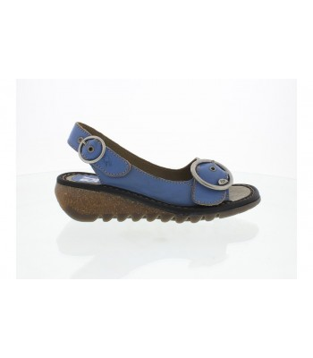 Fly London Tram Leather Sandals (Smurf Blue)