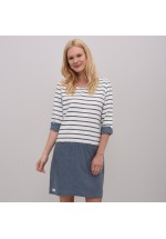 Brakeburn Summer Woven Stripe Dress (Gray)