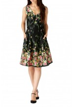 Sugarhill Boutique Breann Floral Border Print Prom Dress