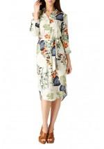 Sugarhill Boutique Reva Palm Print Shirt Dress
