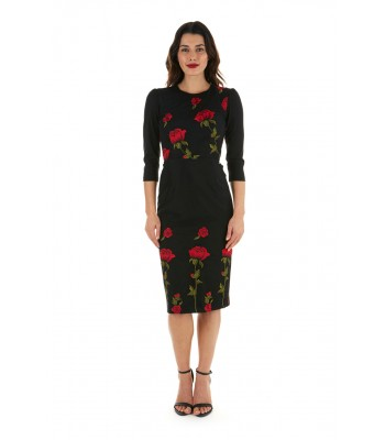 Pretty Dress Company Suki in Embroidered Rose