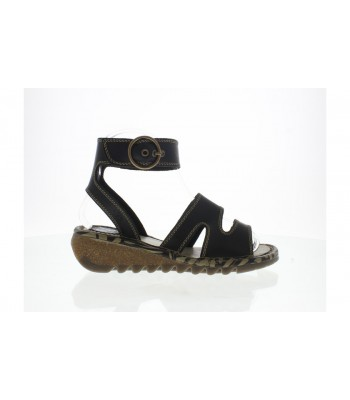 Fly London Tily Leather Sandals (Black)