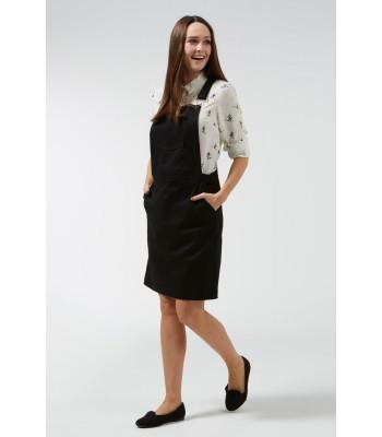 Sugarhill Boutique Toni Apron Dungaree Dress (Black)