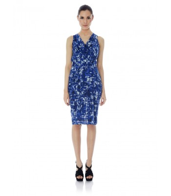 Uttam Boutique Koons Print Cowl Neck Dress