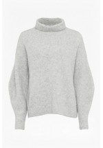 French Connection Urban Flossy High Neck Jumper (Light Oatmeal)