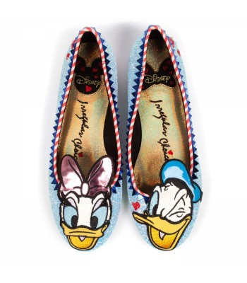 Irregular Choice Mickey and Friends Whoa! (Baby Blue Glitter)