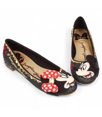 Irregular Choice Mickey Why Hello! (Black Glitter)