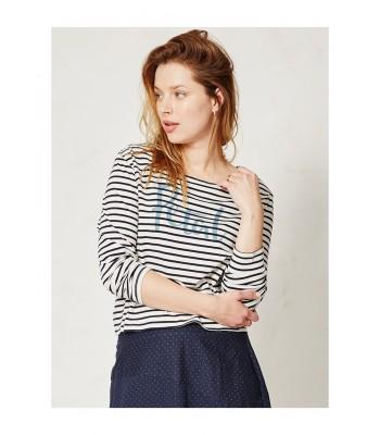 Braintree Petal Stripey T-Shirt (Ivory)
