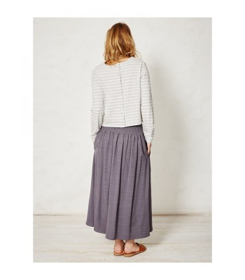 Braintree Petal Stripey Bamboo T-Shirt (Grey Marl)