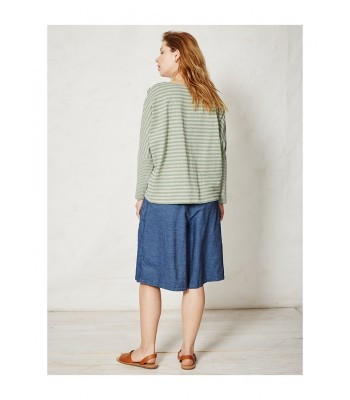 Braintree Lilli Stripey Organic Cotton T-Shirt (Grass)