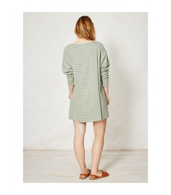 Braintree Lilli Stripey Organic Cotton Tunic (Grass)