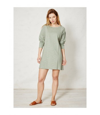 Braintree Lilli Stripey Organic Cotton Tunic (Grass)