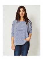 Braintree Magdalena Stripey Organic Cotton Top (Lagoon)