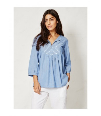 Braintree Kara Organic Cotton Chambray Top