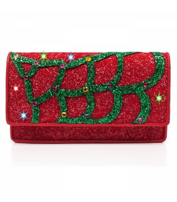 Irregular Choice Nicely Festive Clutch (Red)