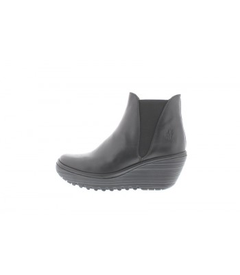 Fly London Yoss Ankle Boot Wedge Black