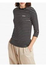 French Connection Tim Tim Amour Stripe Top, Blue